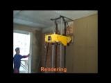 Робот штукатурит стены. Ремонт для ленивых