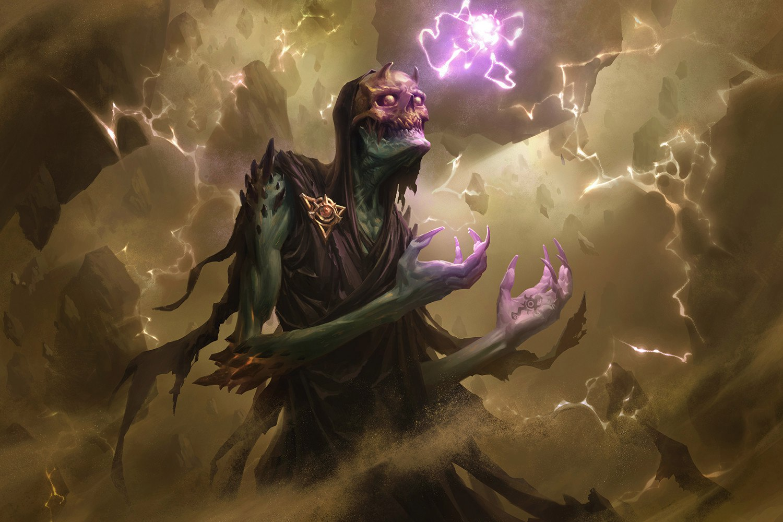Мрачный арт на властелина темной магии