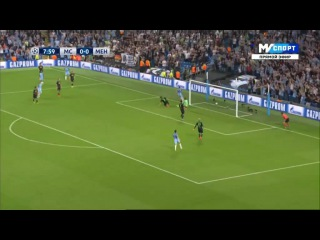 Манчестер Сити - Боруссия М, Агуэро, Гол, 1-0