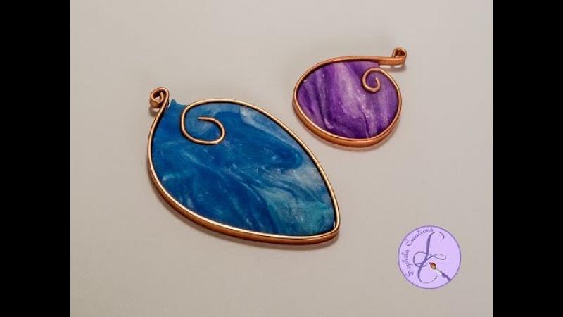 Tutorial Ciondolo in Fimo Effetto Marmo e Wire (polymer clay marble pendant with flat wire)