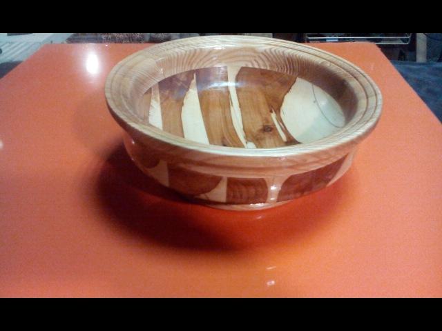 Чаша из ясеня и яблони (Bowl made of ash and Apple trees)