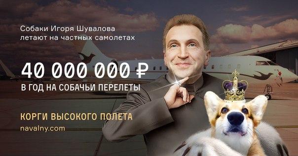 ФБК: Вице-премьер Шувалов тратит 40 миллионов рублей в год н