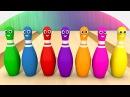 Учим Цвета - Игра в Боулинг. Развивающий Мультфильм Для Детей. Изучаем Цвета Малыш Волшебство ТВ