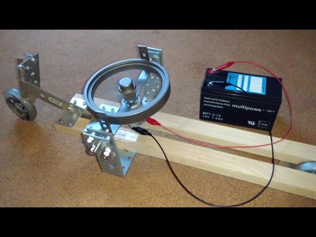 Gyrocar 1 (gyroscope stabilized 2-wheeled toy)