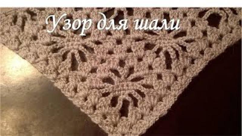 Узор для шали крючкомPattern for shawls