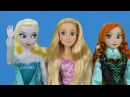 ELSA ANNA climb a tree ! A MAGIC bunny is discovered !Rapunzel , Kristoff, Eugene are there too