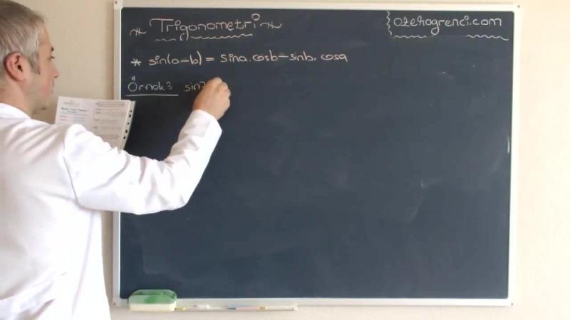 Trigonometri 10.Ders Toplam Fark Formülleri