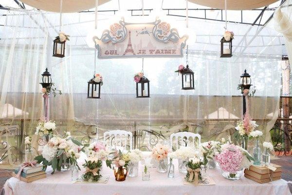 Оформление свадебного зала парижская тема
