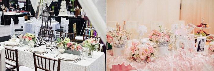 Оформление свадебного зала парижский стиль