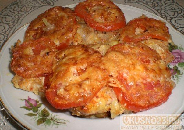 Запечённая рыба с овощами в духовке рецепт