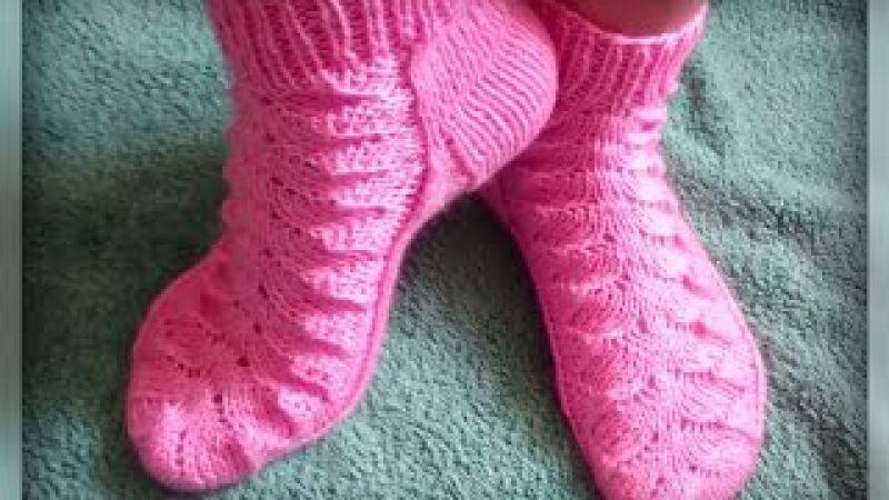 женские носки рисунком вязание спицами