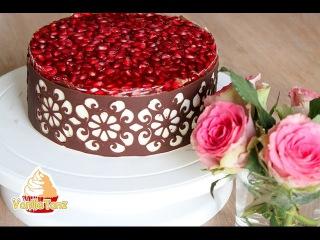 Chocolate lace Masterclass , Schokoladen Tortenrand mit Stencil - Schablone Anleitung