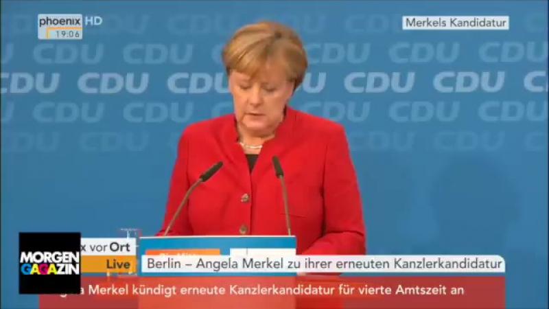 Bisher unveröffentlichtes Videomaterial zur Reaktion der CDU -Führung auf Merkell Kandidatur zur ewigen Kanzlerschaft