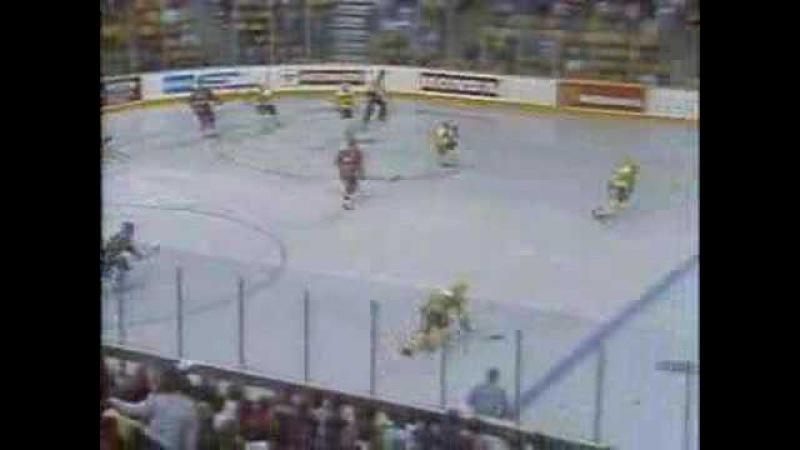 8 сентября 1987 года, Кубок канады, полуфинал: СССР - Швеция (обзор)