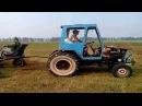 Самодельный трактор! Собираем сено!