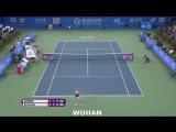 41 Shot Rally Angelique Kerber vs Petra Kvitova _ 2016 Wuhan Open