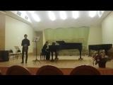 Шуберт. Сонатина ля минор для скрипки и фортепиано, 1 часть