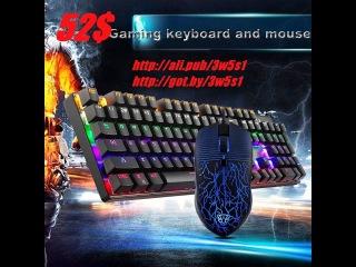 MOTOSPEED USB, Проводная Игровая клавиатура и мышь, 2017