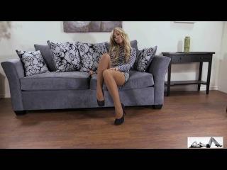 Sexy girls on high heels, stunning legs, skirts and pantyhose stockings