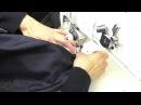 Юбка из бархата для женщин с узкими бедрами Как вшить потайную молнию Часть 5