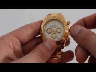 Мужские часы ROLEX Daytona золотой-белый реплика
