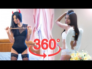 Angel or Demon 360 Video VR Girl Which side will you choose?