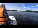 Лодка ПВХ Альтаир Сириус 335 | Мотор Yamaha 9.9 | Вчетвером катаемся по озеру Селигер. д. Неприе