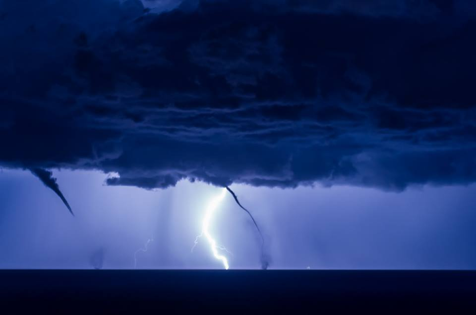 thunderstorm, lightning, waterspout, italy, july 2016, photo
