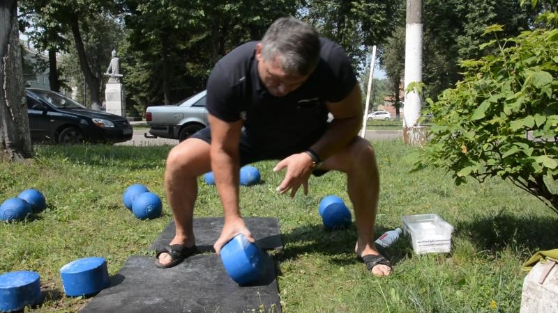 Первый удачный подъём блоба весом 24кг
