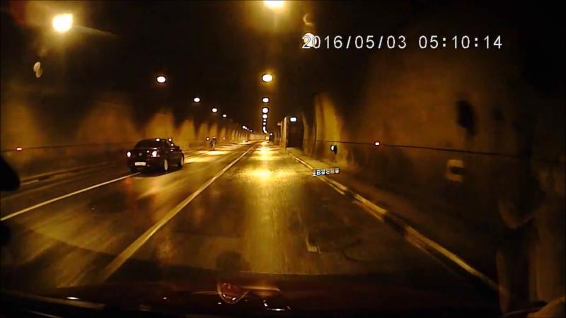 ДТП на выезде из Лефортовского тоннеля.