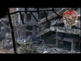 Впечатляющее видео кадры, Бойцы САА мочат снайперов мятежников ракетами