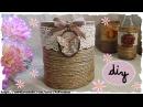 Tutorial: Barattoli e Bottiglie Shabby Chic | Riciclo Creativo | DIY Shabby Chic Jar