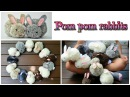Easy crafts pom pom rabbits - stuffed bunnies DIY - Isa ❤️