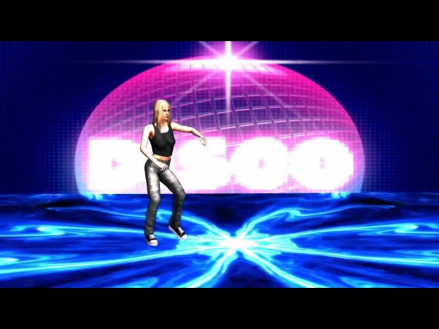 Woman dancing in disco / animeted dance floor / light effects - Chroma Key Effects