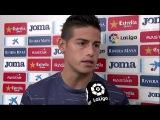 Declaraciones de James y Lucas Vázquez tras la victoria ante el Espanyol