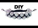 DIY Double shamballa macrame bracelet / Двойной браслет шамбала своими руками