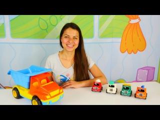 Bebekler için eğitici video. En popüler oyuncak arabaları - Robocar Poli, kamyon arabaları.