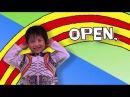 разминка по английски open close clap