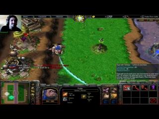 Warcraft 3 c Алиной =) Пудге варс и 2х2