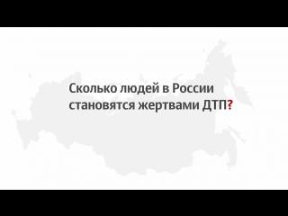 Сколько людей становятся жертвами ДТП в России?