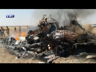 Сбитый в Сирии вертолёт ВКС РФ, Ми-8АМШТ_01.08.2016