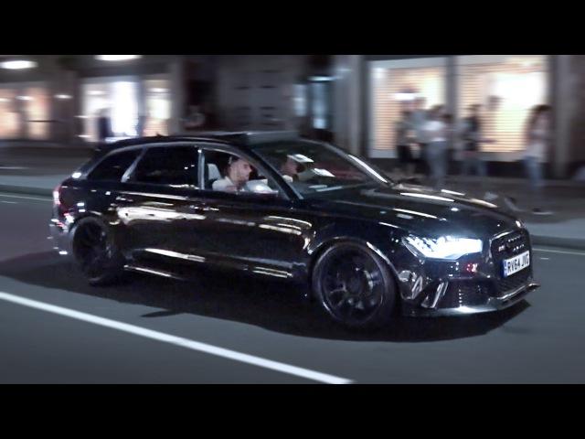 LOUD Audi RS6 - Revs in London