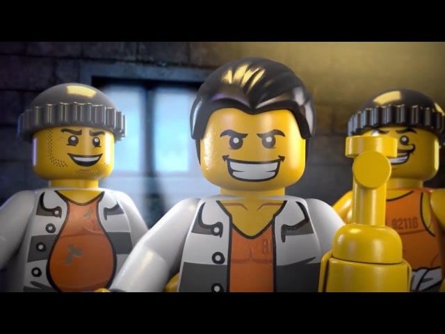Мультфильм Лего Сити - Побег из Тюрьмы на Острове Алькатрас Лего Мультики про Полицейских и Бандитов