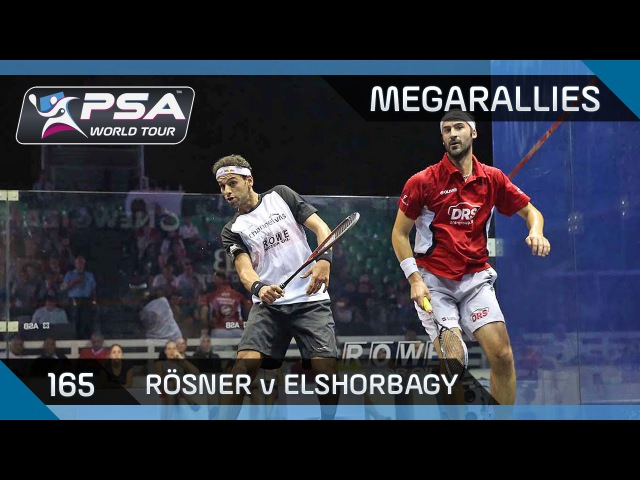 Squash: What a rally, that's got to be clipped! - MegaRallies 165 Rösner v ElShorbagy