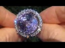 INVESTMENT GRADE 27 31 Carat Pink Kunzite Diamond Ring Solid 14K Gold