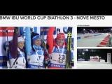 IBU WORLD CUP BIATHLON 2016/17 3rd Leg - NOVE MESTO Sprint Flower Ceremony