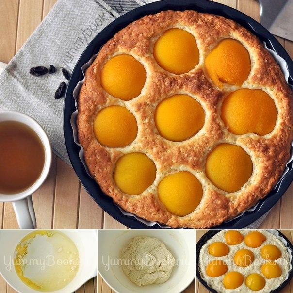 Пирог со свежими персиками рецепт