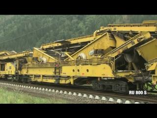 Гигантский аппарат для укладки железнодорожных путей