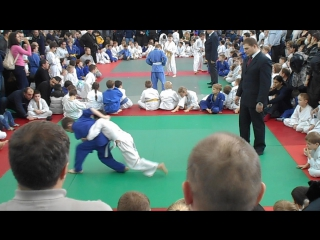 Артём на соревнованиях по дзюдо