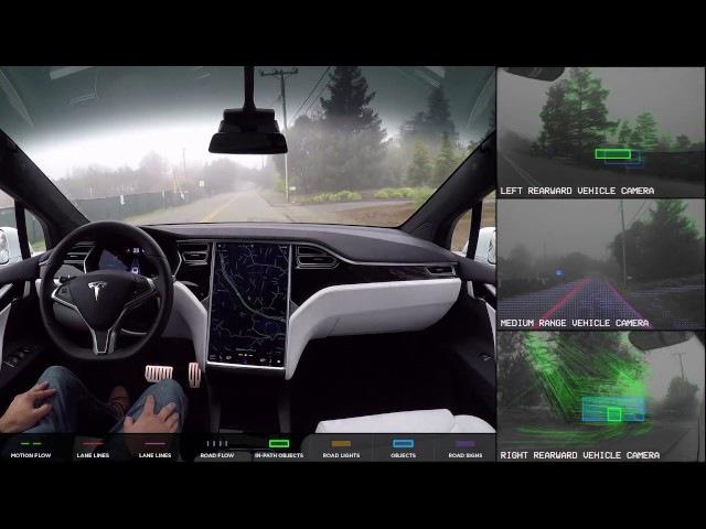 Tesla Autopilot 2.0 Full Self Driving Hardware - Neighborhood Long
